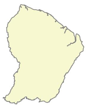 Départements de la région Guyane