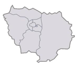Départements de la région Île-de-France